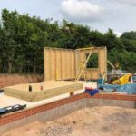 external wooden frame being installed as part of new build project