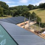 barn conversion with roof work being done